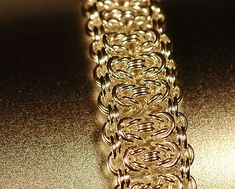 Byzantine Bar Chainmaille Bracelet by cMaille, via Flickr