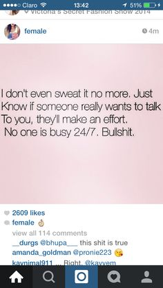 No one is busy 24/7