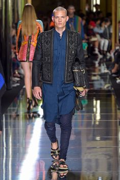 Kurta & Eastern Inspired Fashion? (Balmain Spring 17)
