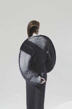 Sculptural Knitwear Design - knitted dress with 3D circular silhouette - soft geometric fashion; wearable art // Matilda Norberg