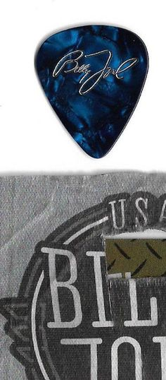 1-Billy Joel Piano Man Blue GPick From Stage Historic Wrigley Field Aug 11,2017