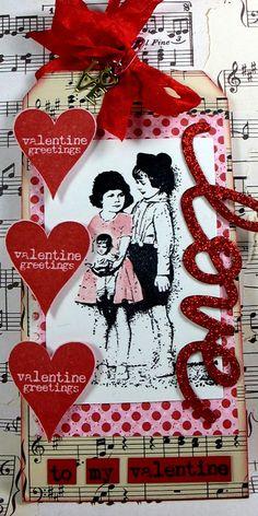 valentine tag....love