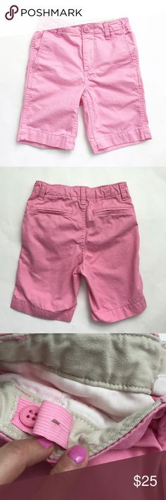 GAP Kids [boys] Pink Chino Shorts Washed and never worn. My son said Pink was not his color. Adjustable waist. Size 6. GAP Bottoms Shorts