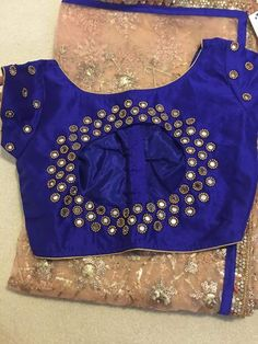 Sari Blouse, Saree Blouse Designs, Blouse Styles, Simple Blouse Designs, Saree Blouse Patterns, Designer Blouse Patterns, Indian Blouse, Bridal Blouse Designs, Blue Blouse