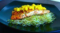 Honey Mustard Salmon with Mango Salsa