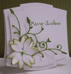 By Loll Thompson - Cards and Paper Crafts at Splitcoaststampers  #memorybox madera corner and #poppystamps poinsettia  http://stampingwithbibiana.blogspot.com/