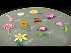 10 Gorgeous Flower Ideas: Hand Embroidery Art with Simple Stitches Basic Embroidery Stitches, Hand Embroidery Videos, Flower Embroidery Designs, Hand Embroidery Stitches, Embroidery Online, Japanese Embroidery, Broderie Simple, Different Types Of Flowers, Brazilian Embroidery