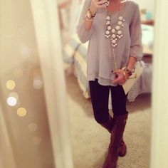 Cute and sleek, perrfect outfit for fall nights!
