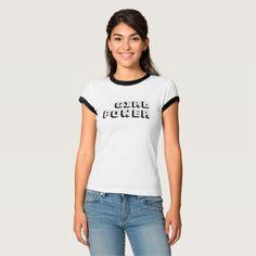 Girl Power T-Shirt - Feminist - slogan - statement tee design.