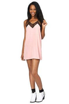 Secrets Pink Lace Trim Camisole Dress | Oh My Love