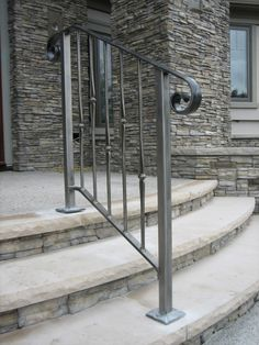 Imagine a beautiful new steel railing system for your entry steps, patio, balcony etc. A steel railing system from Old Dutchman's Wrought Iron will add a lifetime of beauty and value to any property.