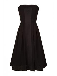 NAF NAF - Robe bustier à fronces BLACK - Courtes Femme