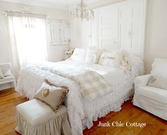 Dreamy White Bedroom in cottage style home