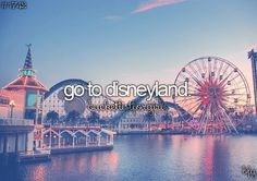 Disney World is my home but I need to visit Disneyland too.