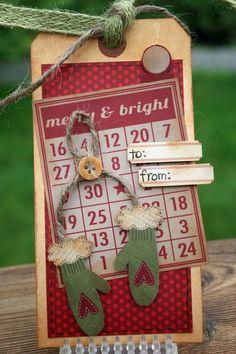 Simple Stories Handmade Holidays  Christmas tag #2  http://simplestories.typepad.com/simple_stories/2012/08/dressing-up-those-christmas-presents.html