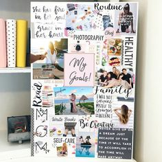 Job Discover How To Vision Board For Beginners - Fit Body Weight Loss Vision Board For Beginners Diy Image, To Do Planner, Goal Board, Creating A Vision Board, Visualisation, Inspiration Boards, Inspiration Fitness, Inspiration Quotes, Body Weight