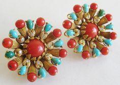Vintage 70s Designer 18k French Gold Coral by SanDiegoJewelryShop, $4800.00