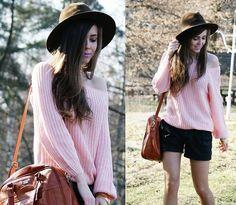 Powder pink & lilac (by Kasia Gorol) http://lookbook.nu/look/3237037-powder-pink-lilac