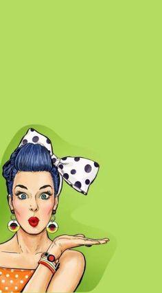 New Pop Art Woman Illustration Girls Ideas Art And Illustration, Illustrations, Pop Art Women, Pop Art Wallpaper, Pop Art Girl, Art Graphique, Cute Wallpapers, Female Art, Pinup