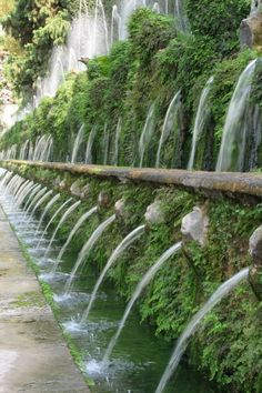 Villa D'Este, Rome. The Avenue of 100 Fountains.