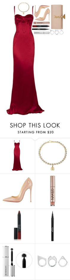 """d&g • chanel • loub • ysl"" by iriskatarina ❤ liked on Polyvore featuring Dolce&Gabbana, Chanel, Christian Louboutin, Urban Decay, NARS Cosmetics, Stila, Givenchy, Moratorium and Yves Saint Laurent"