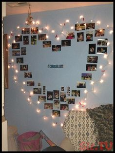 Inspiration to hang dear photos of a deceased in your home for more inspiration to remember a deceased loved one on www rememIn . Cute Bedroom Decor, Bedroom Decor For Teen Girls, Room Ideas Bedroom, Girl Bedroom Designs, Teen Room Decor, Diy Room Decor, Photowall Ideas, Decoration Photo, Cute Room Ideas