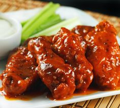 PALEO COCONUT CREAMED BUFFALO WINGS RECIPE