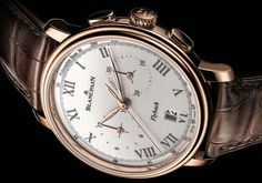 New for 2014 is the Blancpain Villeret Chronograph Pulsomètre (Blancpain Villeret Pulsometer Flyback Chronograph)
