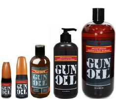 Lubricants and Lotions: Gun Oil Silicone Lubricant - Select Size BUY IT NOW ONLY: $35.99