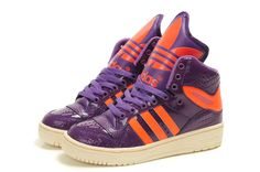 Women Adidas Originals Metro Attitude Fashion W Purple Orange Shoes