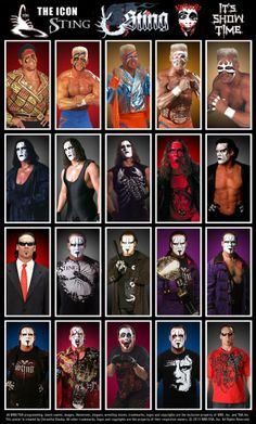 Evolution of #TheIcon. The man called #Sting