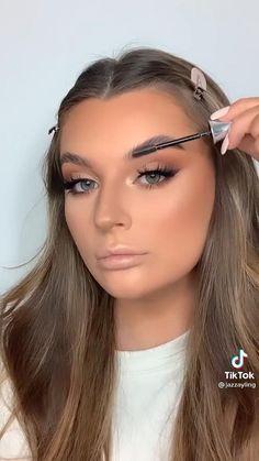 Prom Eye Makeup, Matte Makeup, Smokey Eye Makeup, Skin Makeup, Makeup For Blue Eyes, Formal Eye Makeup, Bronze Eye Makeup, Full Face Makeup, Makeup Tutorial Eyeliner