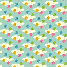 Tiny Kawaii Balloons fabric by marcelinesmith on Spoonflower - custom fabric