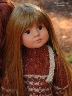 OOAK Hand-Knit Fall Sweater Set for Gotz Happy Kidz dolls by Debonair Designs…