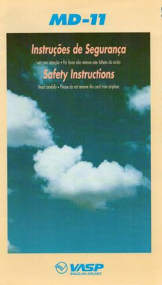 Vasp Airlines MD 11 Safety Card | eBay