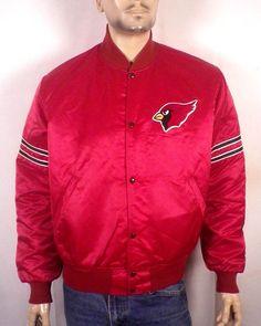 vtg 80s Starter Pro Line St Louis Arizona Cardinals Satin Jacket NFL superb L