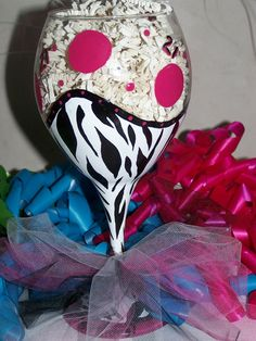Painted Wine Glass Personalized Hot Pink Diva by ArtworkByKimTyson, $17.75