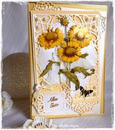 Meine kleine Bastelwelt: Sonnenblumenkarte . . .