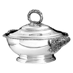 1stdibs | PUIFORCAT French Sterling Silver Covered Serving Dish/Tureen