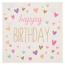 Buy Woodmansterne Birthday Hearts Birthday Card from our Greetings Cards range at John Lewis & Partners. Happpy Birthday, Happy Birthday Hearts, Happy Birthday Wishes Cards, Birthday Blessings, Happy Birthday Pictures, Happy Birthday Quotes, Birthday Love, Birthday Cards, Birthday Card Online