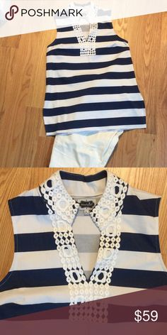 Mud Pie top Sleeveless tunic by Mud Pie. Heavy cotton, zip under arm, slits on side. Perfect condition. (Jeans not for sale) Mud Pie Tops Tunics