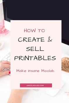 Create printables to sell.  You can use canva or other software and programs to create printables free.  Printables for kids, for home or organization are hot right now.  You can also create password log printables and blogging printable bundles. #createprintables #freeprintables #createprintablesnametracing #printablesart #printables