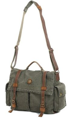 Canvas & Leather Laptop Bag in Army Green with Brown Leather Straps Laptop Army Green Leather & Canvas Messenger Laptop Army Green Leather & Canvas Messenger Bag Leather Laptop Bag, Leather Bags, Leather Wallets, Swaggy Outfits, Canvas Messenger Bag, Womens Messenger Bag, Cute Bags, Green Leather, Canvas Leather