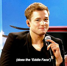 Taron Egerton I remember this interview Hugh couldn't stop laughing