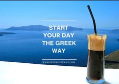 without fail :) Greece House, Zorba The Greek, Greek Culture, Good Morning Coffee, Greek Music, Coffee Shop Design, Greek Life, Coffee Art, Greek Recipes