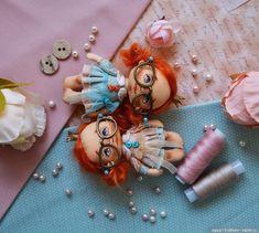 Текстильные мини куколки от Натальи Тереховой с выкройкой / Куклы из ткани / Бэйбики. Куклы фото. Одежда для кукол