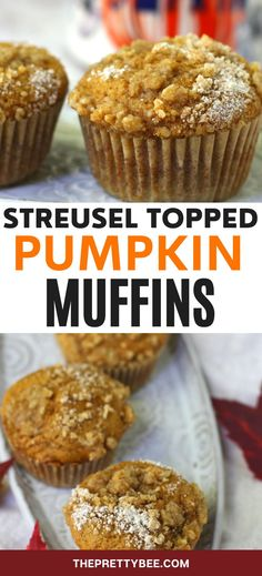 Everyone needs a great pumpkin muffin recipe, and this one is the best! The sugary streusel topping is my very favorite. So good! Egg Free Desserts, Vegan Desserts, Delicious Desserts, Dessert Recipes, Free Breakfast, Breakfast Recipes, Streusel Topping For Muffins, Pumpkin Muffin Recipes, Vegan Pumpkin