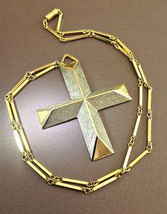 Large Cross Pendant Necklace ACCESSOCRAFT by RenaissanceFair