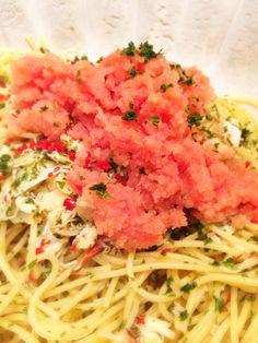 Mentaiko crab pasta