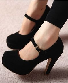 Strap high heel pumps